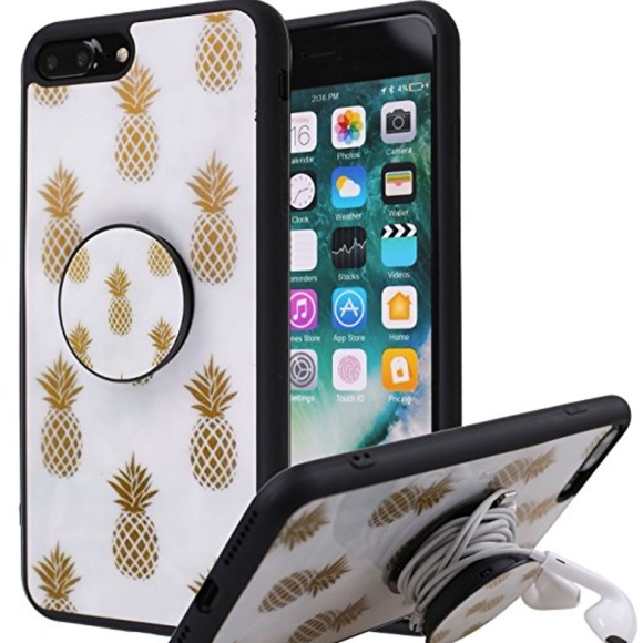 newest c91c6 948de NEW IN BOX-iPhone 7 Plus Case with popsocket NWT